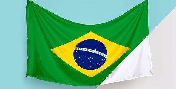 فایل لایه باز موکاپ پرچم کشور برزیل
