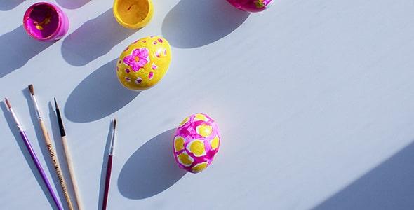 تصویر تخم مرغ رنگی و گواش
