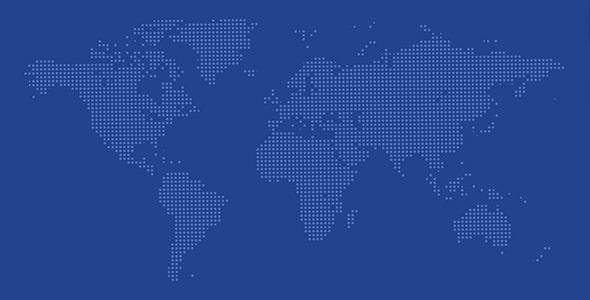 وکتور نقشه جهان طرح نقطه ای