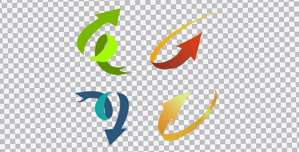 تصویر PNG انواع فلش رنگی منحنی