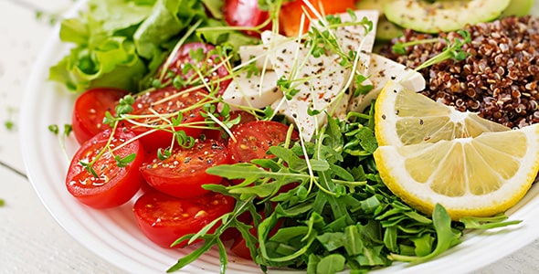 تصویر بشقاب سالاد سبزیجات