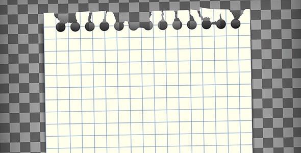 وکتور کاغذ یادداشت خالی با لبه پاره