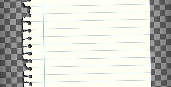 وکتور کاغذ یادداشت سیمی با لبه پاره