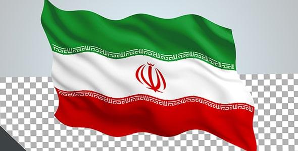فایل لایه باز طرح ترنسپرنت پرچم ایران
