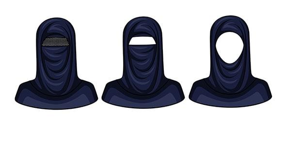وکتور تصویرسازی مقنعه عربی با مفهوم حجاب