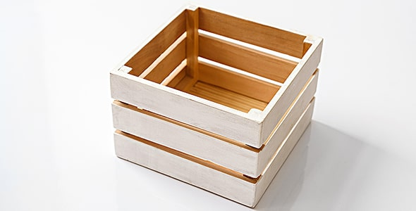تصویر پس زمینه جعبه خالی چوبی