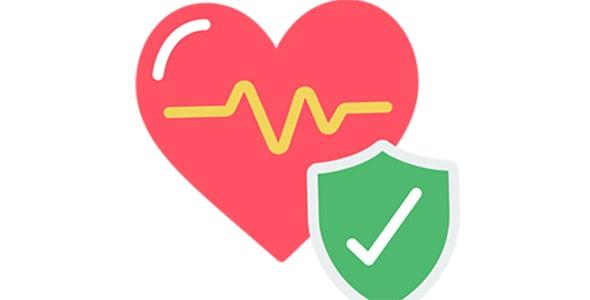 آیکون قلب قرمز با مفهوم سلامتی و پزشکی