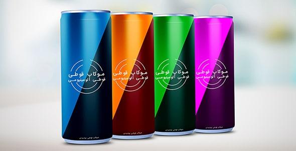 فایل لایه باز موکاپ فارسی قوطی نوشیدنی