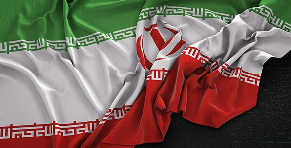 تصویر رندر سه بعدی پرچم ایران