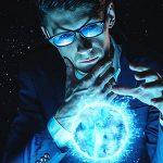 تصویر مرد تاجر با مفهوم جادو در تجارت