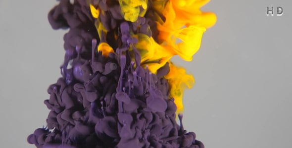 ویدیو افتادن رنگ و جوهر در آب