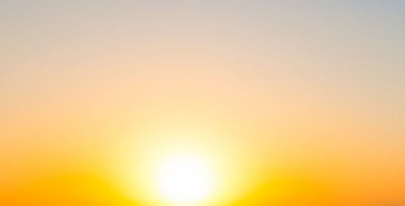 تصویر پانوراما از غروب خورشید