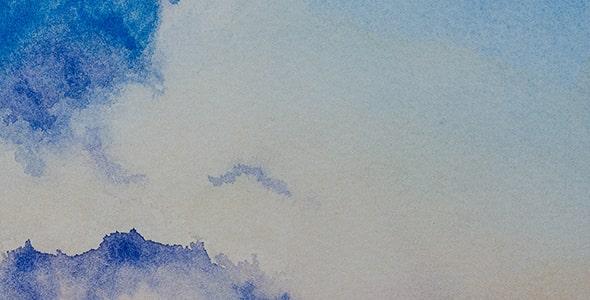 تصویر انتزاعی طرح آبرنگی و ابر و باد