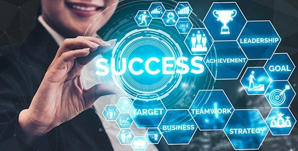 تصویر با مفهوم موفقیت و پیشرفت در تجارت