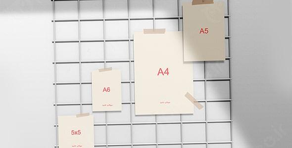 فایل لایه باز مجموعه انواع برگه کاغذ