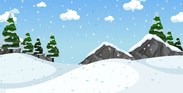 وکتور پس زمینه بارش برف و فصل زمستان
