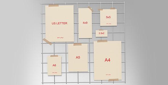 فایل لایه باز مجموعه انواع کاغذ یا برگه