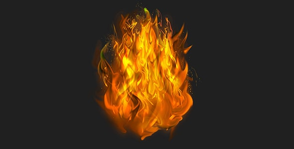 فایل لایه باز افکت نارنجی شعله های آتش