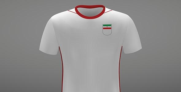 وکتور کیت ورزشی لباس تیم ملی فوتبال ایران