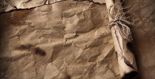 تصویر نمای بالا نامه و کاغذ قدیمی