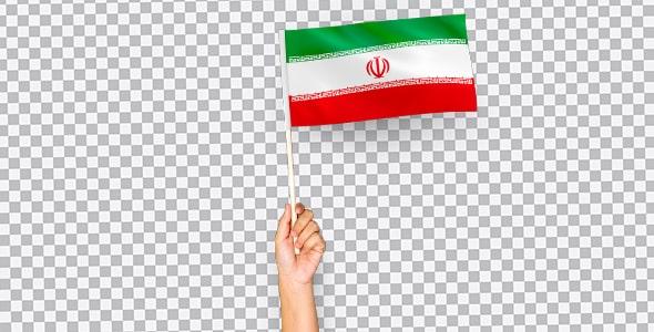 تصویر PNG دست انسان و نگه داشتن پرچم ایران