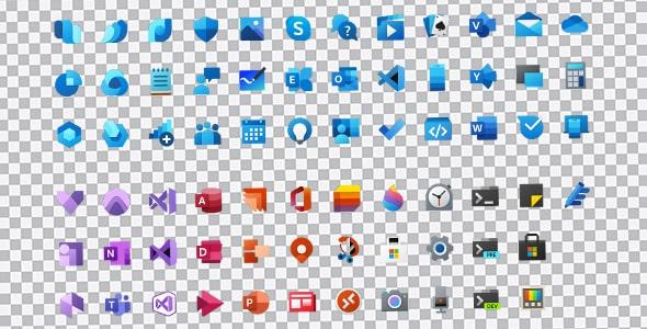 تصویر PNG آیکون Fluent Design مایکروسافت