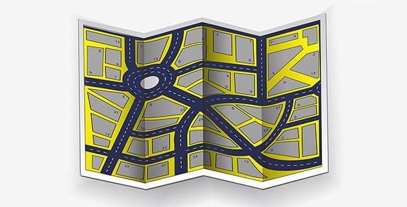 وکتور نمای بالا نقشه شهر