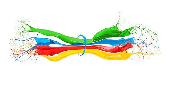 تصویر پس زمینه پاشیدن رنگ ها