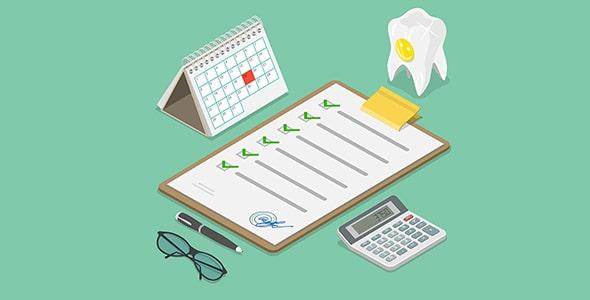 وکتور تقویم و چک لیست دندانپزشکی