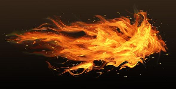 فایل لایه باز افکت شعله های آتش