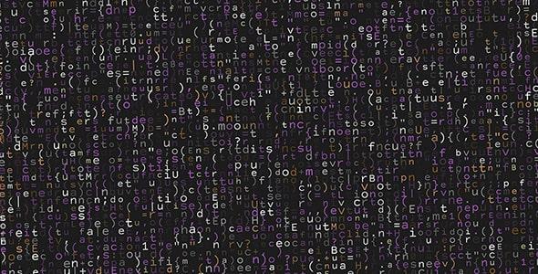 وکتور پترن با مفهوم برنامه نویسی و کد
