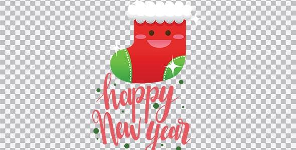 تصویر PNG جوراب کریسمس و سال نو میلادی