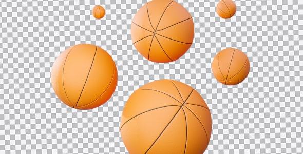 تصویر PNG مجموعه توپ بسکتبال