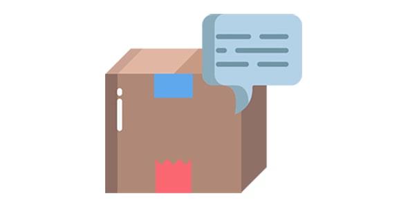 آیکون باکس یا جعبه با مفهوم چت کردن
