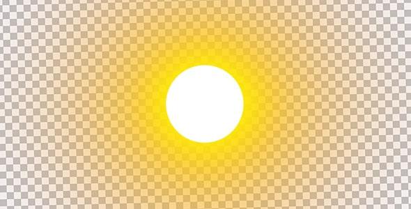 تصویر PNG دایره یا گرد نور خورشید