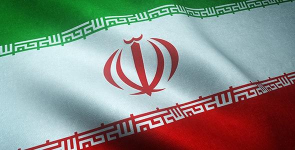 تصویر پس زمینه پرچم موج دار ایران