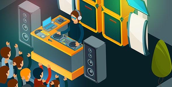 وکتور دی جی در کنسرت و موسیقی الکترونیک