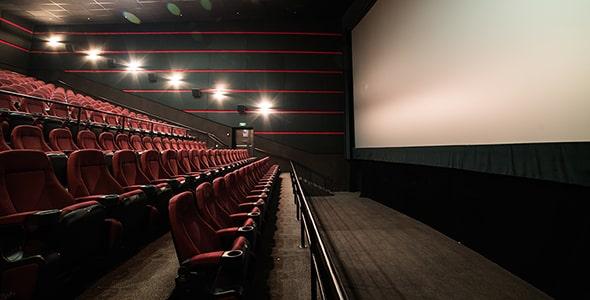 تصویر پس زمینه سالن تئاتر و سینما خالی