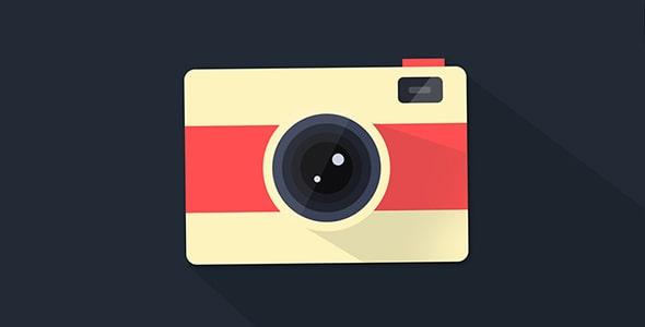 فایل لایه باز تصویرسازی آیکون دوربین عکاسی