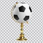تصویر PNG توپ فوتبال و کره جغرافیایی
