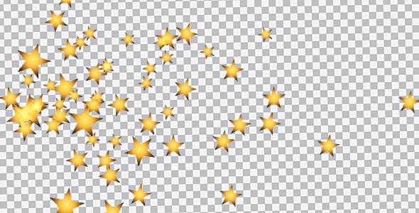 تصویر PNG مجموعه ستاره های طلایی