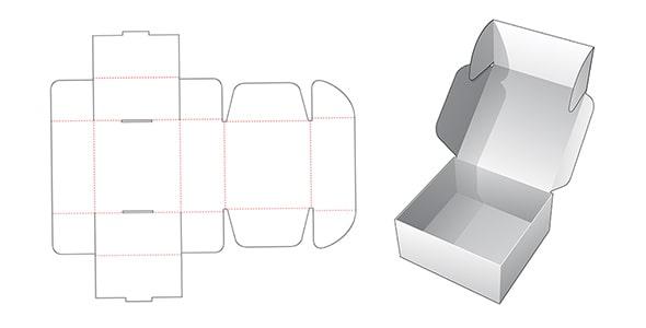 وکتور قالب برش خورده جعبه بسته بندی شیرینی