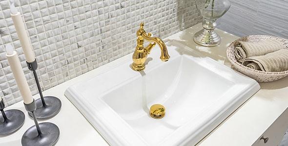 تصویر سینک روشویی حمام با طراحی لوکس