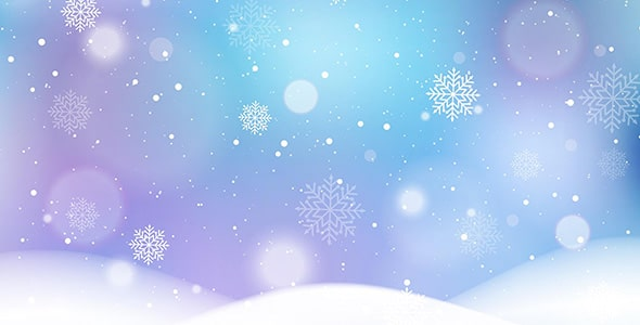 وکتور بارش برف و دانه برف در فصل زمستان