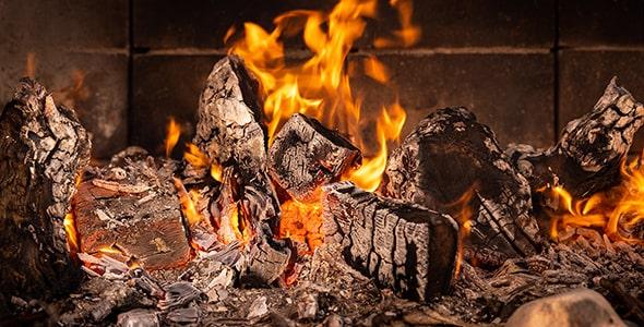 تصویر پس زمینه آتش و زغال کبابی