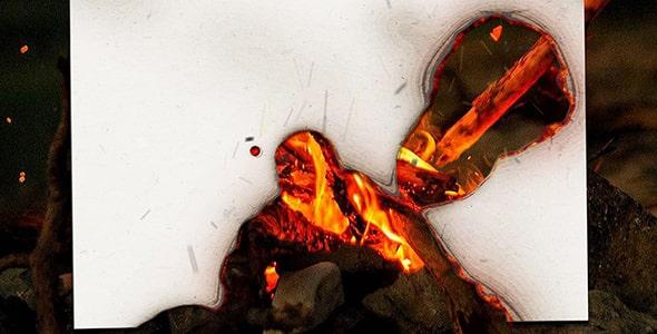 فایل لایه باز موکاپ فارسی افکت کاغذ سوخته