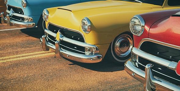تصویر مجموعه ماشین و اتومبیل کلاسیک رنگارنگ