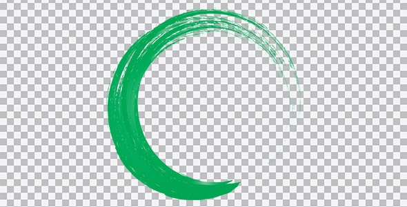 تصویر PNG براش دایره سبز