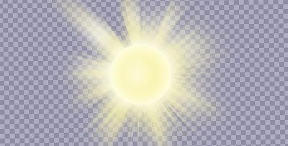 تصویر PNG افکت نور خورشید