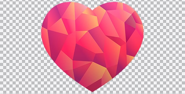 تصویر PNG طرح اوریگامی قلب